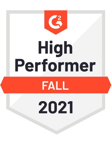 G2 High Performer Fall 2021